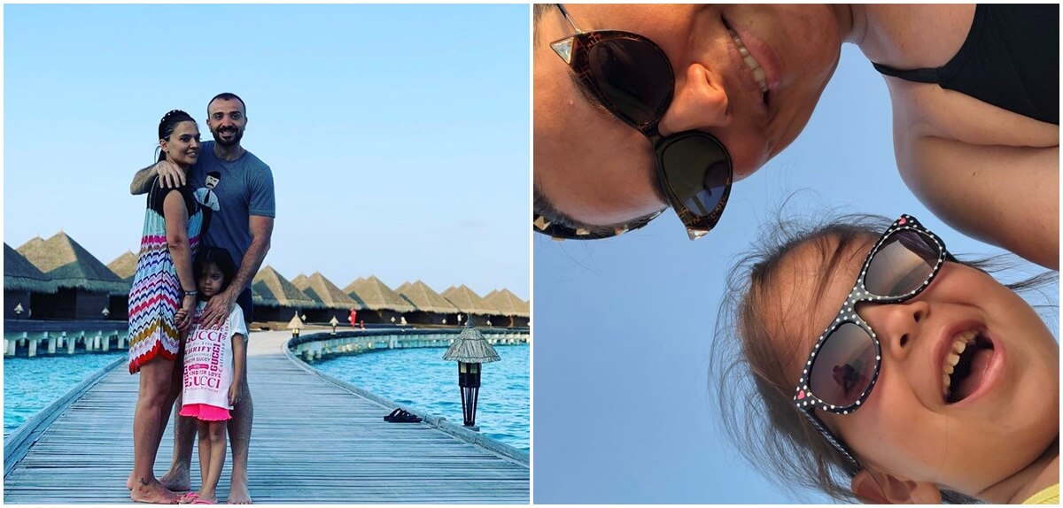 Demet Akalın & Okan Kurt çifti Maldivler'de!