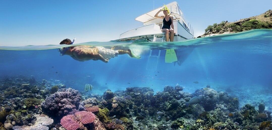 Maldivler Biyadhoo Adası Şnorkelle Yüzme