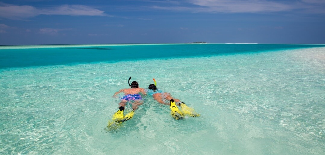 Maldivler Veligandu Adası Şnorkelle Yüzme